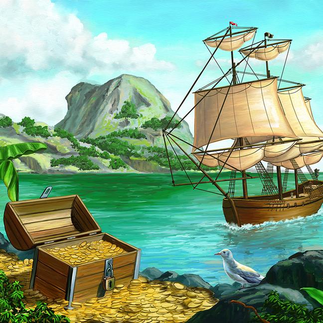 Б1-012  Остров сокровищ  300*270  фотопанно