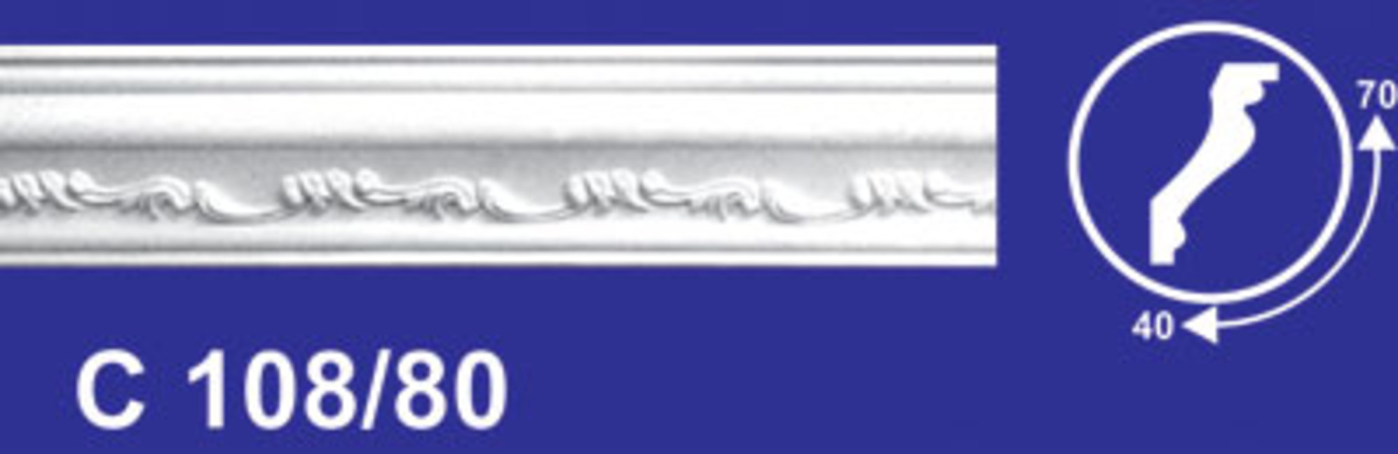 108/80 /40*70*2000/Плинтус потолочный 1/35 Wikibau