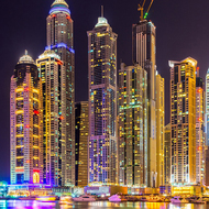 Б1-049  Дубаи ночь  300*270  фотопанно