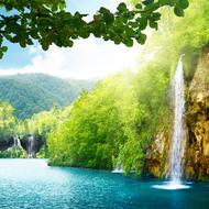 Б1-093 Высокий водопад  300*270  фотопанно